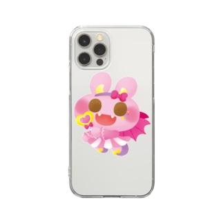 ハロウィンうさぎ Clear smartphone cases