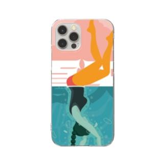 プールを楽しむ夏【夏天】  Clear Smartphone Case