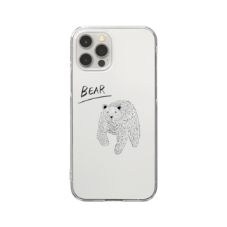33 STOREのBEAR Clear smartphone cases