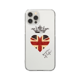 di-2 UKハート Clear smartphone cases