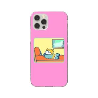 おへや(ぴんく) Clear smartphone cases