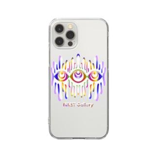 Melting eyes_hologram #2 Clear smartphone cases
