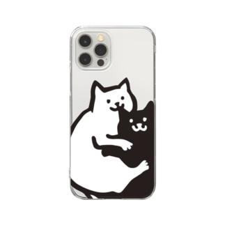 おみみかじりねこ Clear smartphone cases