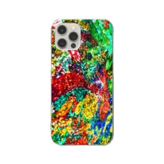 絵画の花 Clear smartphone cases