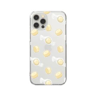 にくらしいキャンディーチーズのパターン Clear Smartphone Case