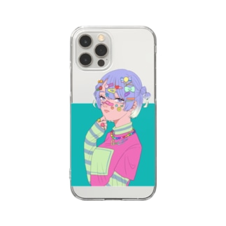 デコラ風 Clear smartphone cases