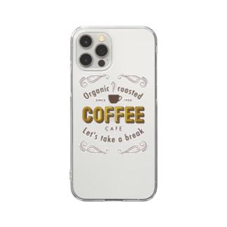 コーヒー カフェ Clear smartphone cases