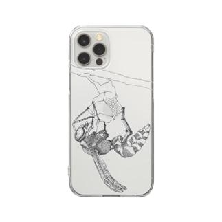 クイーン スケッチ風 Clear smartphone cases