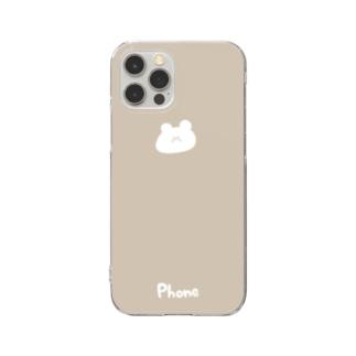 くまさん Clear smartphone cases