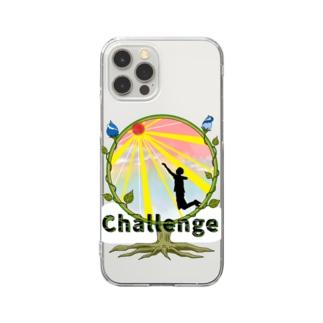チャレンジ Clear smartphone cases