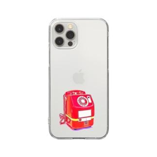 昭和の思い出『赤電話』 Clear Smartphone Case