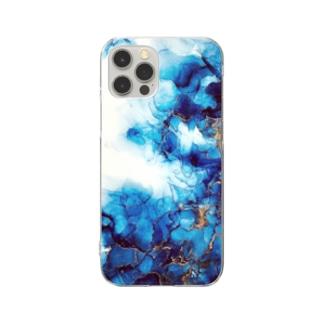 *゜⚪︎。碧の波紋⚪︎◯゜ Clear smartphone cases