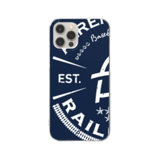 Railroads エンブレムロゴ 青_グランジ Clear Smartphone Case