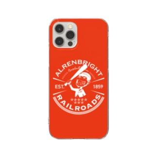 Railroads お猿さんエンブレム 赤 Clear Smartphone Case