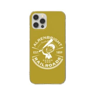 Railroads お猿さんエンブレム 黄色 Clear Smartphone Case