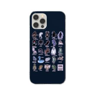 ちょっとゆるいUMA図鑑 (カラーパターン2) スマホケース ・ネイビー Clear Smartphone Case