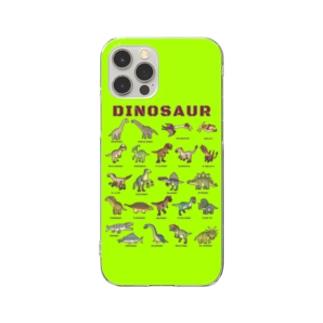 ちょっとゆるい恐竜図鑑 スマホケース (ライトグリーン) Clear Smartphone Case