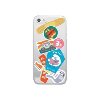 変なステッカー Clear smartphone cases