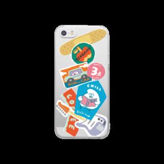mugny shopの変なステッカー Clear smartphone cases
