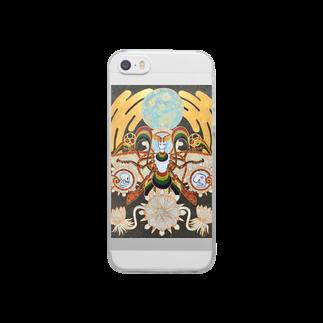 アトリエ蟲人の月の蛾 Clear smartphone cases