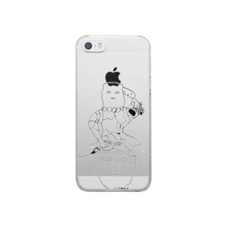 えりんぎあたま Clear smartphone cases