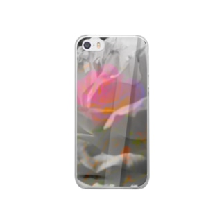"""危麗/no rose without a ×××""-iPhoneSE/5s/5 Clear smartphone cases"