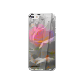 "さゆり工房の""危麗/no rose without a ×××""-iPhoneSE/5s/5 Clear smartphone cases"
