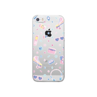 80s-90s【SE/5s/5購入ページ】 Clear smartphone cases