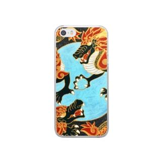 双龍図 Clear smartphone cases