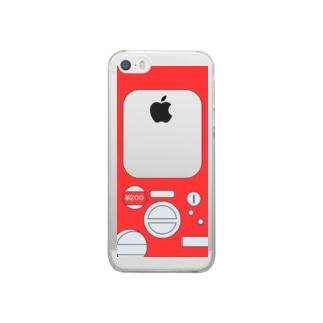 ガチャポンiphoneケース Clear smartphone cases