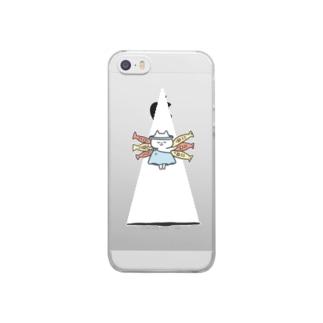 スケルトンGOD CAT Clear smartphone cases