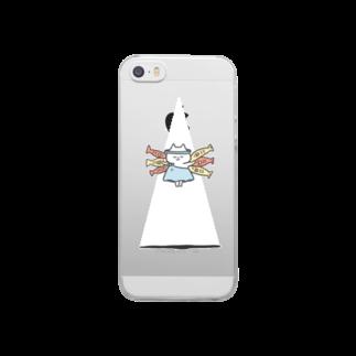 ゆゆ丸のスケルトンGOD CAT Clear smartphone cases
