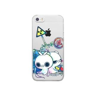 クレイジー闇うさぎ(標識/カラー) Clear smartphone cases