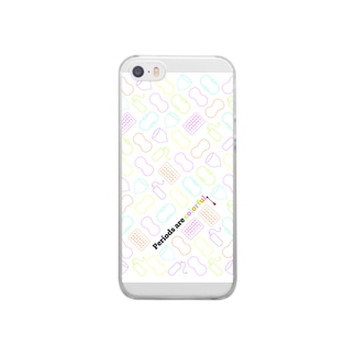 Periods are colorful./生理はカラフル。 Clear smartphone cases
