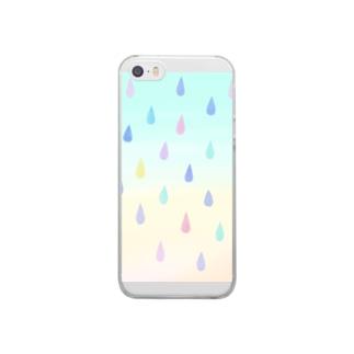 シズク×カラフル Clear smartphone cases