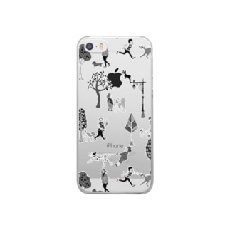 The Doggone Dog Is Mine パターン Clear smartphone cases