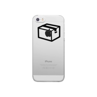 段ボール(小包お届け) Clear smartphone cases