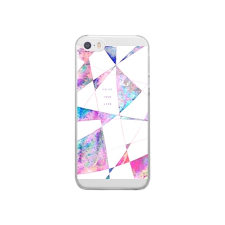 color your life 水彩 Clear smartphone cases