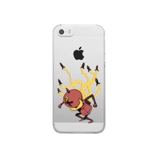 ヘルトウクン(ミサイル) Clear smartphone cases