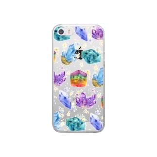 からふる鉱石 Clear smartphone cases
