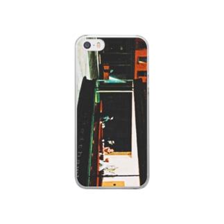 25才児のナイトフォークス Clear smartphone cases