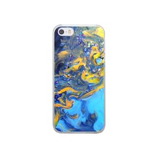 【天の川】彩度100ver. Clear smartphone cases