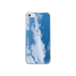 龍見ようと思えば見える雲 Clear smartphone cases