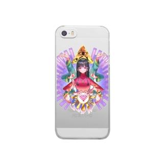 人生妨害電波除去・紫 Clear smartphone cases