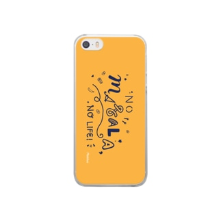 NO MASALA, NO LIFE. スマホケース 黄色 Clear smartphone cases