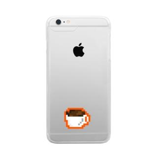 こーひー Clear smartphone cases