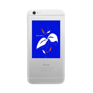 Stay here (+plusの方用) Clear smartphone cases