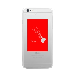 to you . (plusの方) Clear smartphone cases