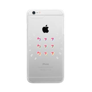 ウフフネオン Clear smartphone cases