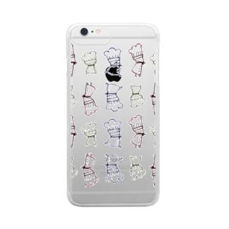三人のコックさん Clear smartphone cases